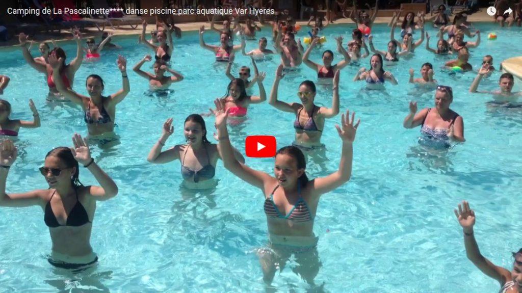Camping de La Pascalinette**** danse piscine parc aquatique Var Hyeres