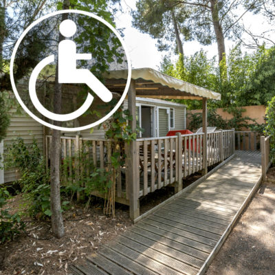 Accessible camping for handicaped persons French Riviera