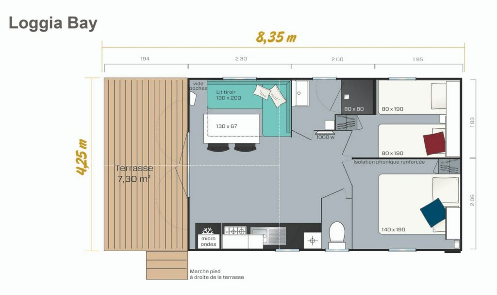 Layout Privilège® 2 rooms 4 guests
