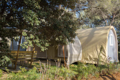 Bungalow equipped canvas  sun Nature cheap friendly