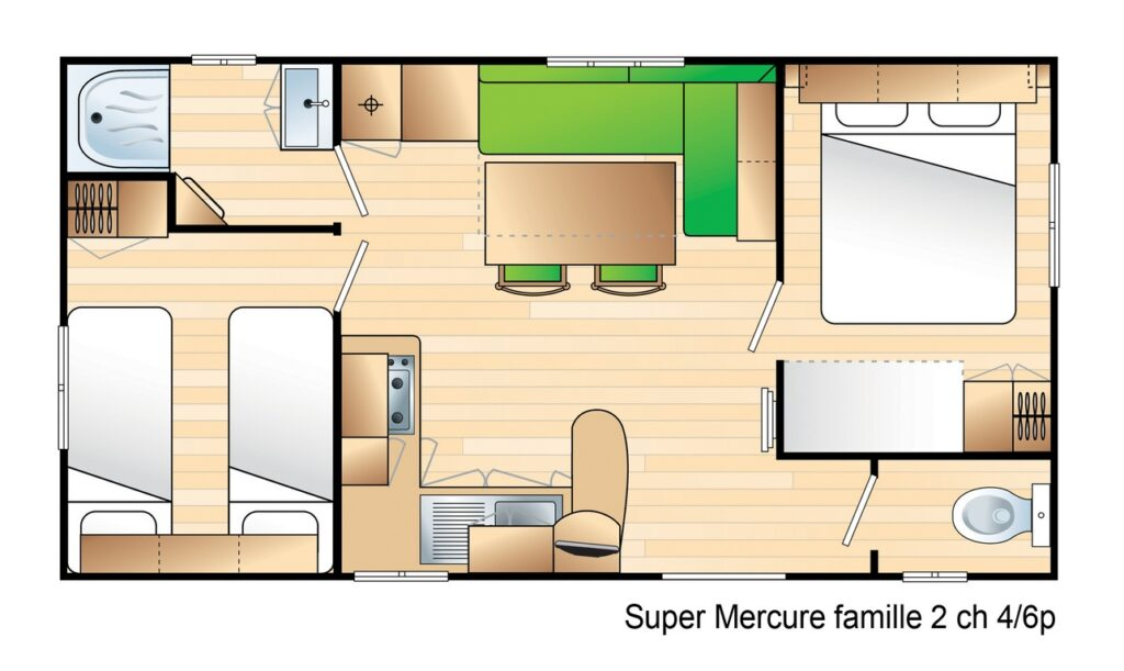 Layout Classique® 2 rooms 4/6 guests