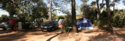 Caravan pitches camping Hyères Low-cost