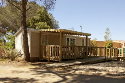 Accessible French Riviera camping - air-conditioned mobile home