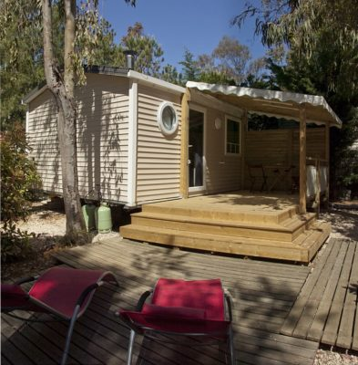 Air-conditioned mobile home rental near Port-cros