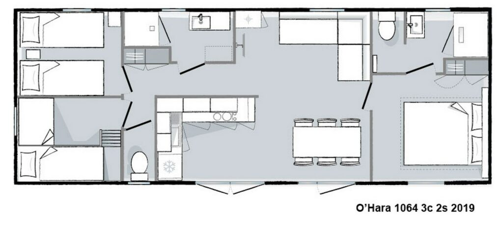 Layout Patio® 3 rooms 6 guests
