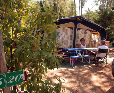 Large pitches for rent south of france campsite