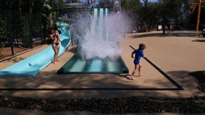 Water slide Water games Heated pool