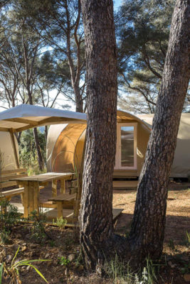 French Riviera Rental tents equipped furnished holidays unusual Cheap
