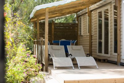 High-end mobile home - campsite in the South of France
