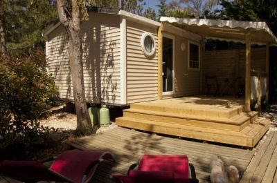 Mobile home rentals - Holiday terrace - sun loungers