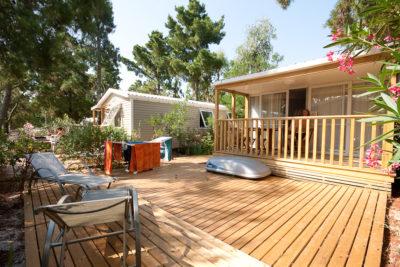 Campsite Mediterranean Sea Mobile home Premium