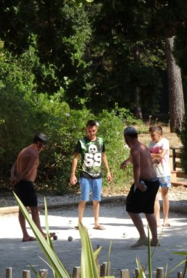 Petanque ground activity camping Var
