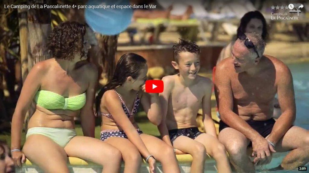 Vidéo camping Var avec parc aquatique et espace aquatique