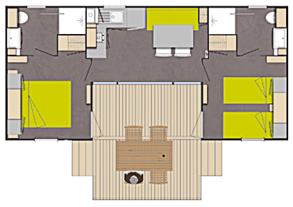 Layout Patio® 2 rooms 4 guests
