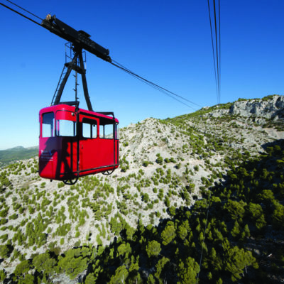 Cable car to the Mont Faron