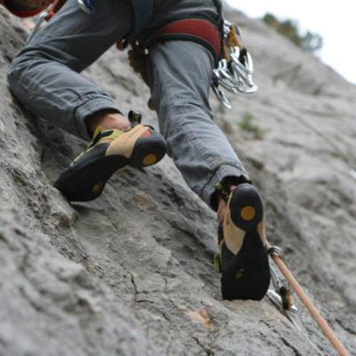 Climbing on Mont Faron