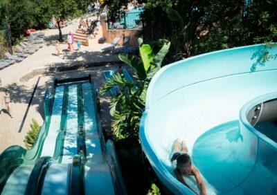 Campsite Hyères Water slide Heated pool