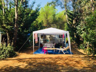Caravan pitches- low-cost campsite France