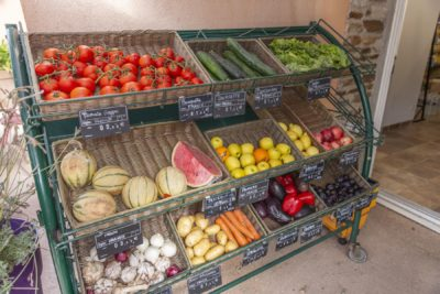 Holiday buying food at the campsite - French Riviera
