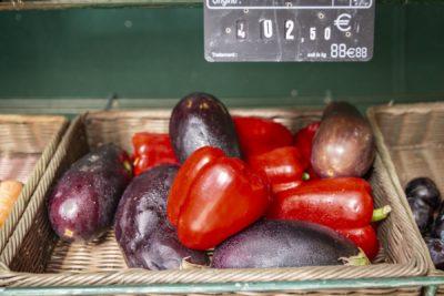 vegetables and fruits - campsite shop