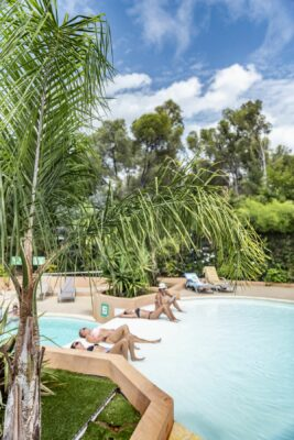 Camping south of France Swimming pool Spa Jacuzzi Paddling pool