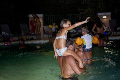 Swimming pool Night time Evening Music Holidays