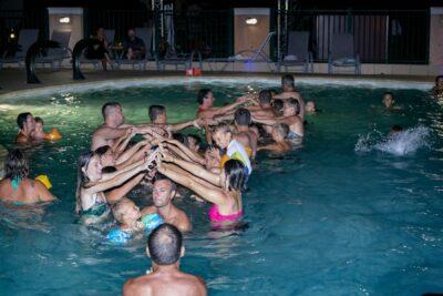 Water park Activities Swimming pool Evening Friends