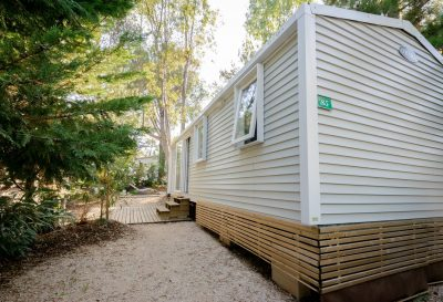 Seaside air-conditioned equipped mobile home - best rate