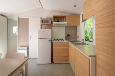 Air conditioned mobile home in a campsite in Provence