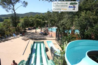 Campsite Bormes-les-Mimosas Water park Heated swimming pool Solarium Jacuzzi Spa